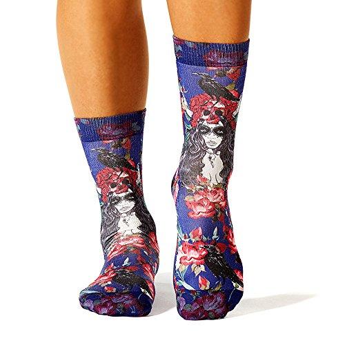 Wigglesteps Damen Socken - 037 Roses and Crows (1010-00804-500)