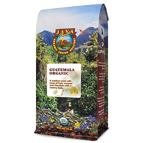 Java Planet - Guatemalan USDA Gourmet Organic Coffee Beans, Medium Roast, Bird Friendly, Arabica Gourmet Specialty Grade A - packaged in 1 LB bag