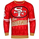 Forever Collectibles NFL Mens Retired Player Ugly Sweater, Joe Montana San Francisco 49ers