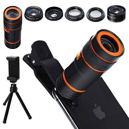 Distianert Handy Kamera Lens Kit, 6 in 1 Universal, inkl. CPL Polarisationsfilter