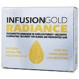 Tahe, 12073173, Infusion Gold Radiance Tratamiento Iluminador de Cabellos Rubios y Mechados con Oro Líquido y Keratin Pura, 2 x 10 ml
