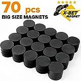 X-bet MAGNET - Ceramic Industrial Magnets - Bulk Lot of 70 Pcs Refrigerator Magnets - Tiny Round Disc Fridge Magnets - 1.18 Inch (30mm) - Magnets for Crafts, Science, Hobbies, Bottlecaps
