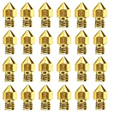 AJSPOW 24PCS 3D Printer Extruder Nozzles 0.2mm 0.3mm 0.4mm 0.5mm 0.6mm 0.8mm 1.0mm for Anet A8 Makerbot MK8 Creality CR-10 10S S4 S5 Ender 3 3Pro 5 with Free Storage Box