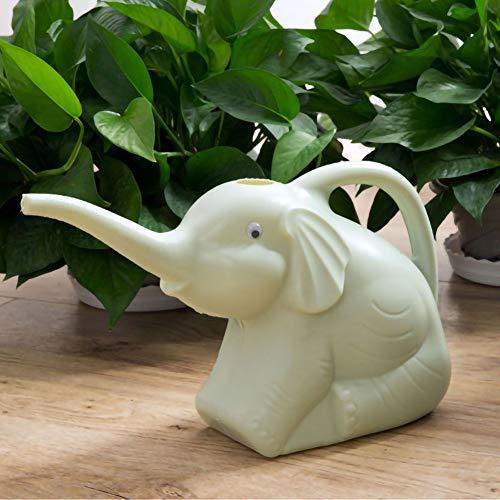 Niedliche Elefant Gießkanne Bewässerung Garten Lange Auslauf Kunststoff Gartengerät 30x 18cm grün rosa & blau