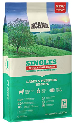 ACANA Singles Lamb & Pumpkin + Wholesome Grains, Protein-Rich, Real...