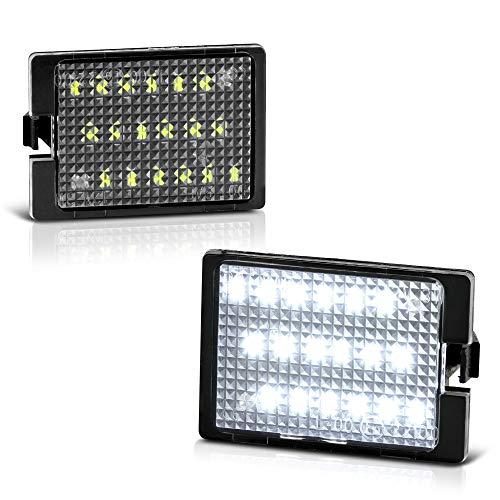 VIPMOTOZ Full LED License Plate Light Lamp Assembly Replacement For 2014-2020 Dodge Durango, 6000K Diamond White, 2-Pieces Set