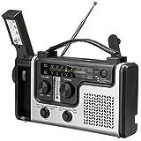 SovelyBoFan Radio Solar Multifuncional para Exteriores Radio FM/Am PortáTil Soporte de Altavoz Incorporado LáMpara de Mesa de Linterna de Emergencia LED
