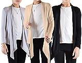 Dinamit Jeans Big Girls' 3 Pack Long Sleeve Flyaway Cardigan Sweater Silver-Stone-Black-XXL