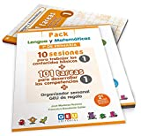 Pack Lengua y matemáticas 1º primaria: 10 Sesiones Contenidos básicos y 101 Tareas para Desarrollo Competencias (Niños de 6 a 7 años)
