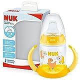 NUK Nuk First Choice - Botella para aprender a beber, con indicador de temperatura, sin BPA, antigoteo, 150 ml, color amarillo, 1 unidad