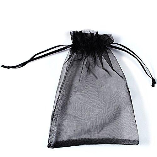 SXUUXB 100 Pezzi Sacchetti Regalo Organza 10x15cm(3.9x5.9 Pollici),Sacchetti di Organza Sacchetti di Cordoncino Avvolgere per la Festa di Nozze di Natale