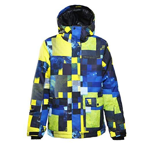 Heren snowboard-jas, jas, warm, gevoerd, winter, snit en waterdicht, gevoerde winterjas, designer ademend met capuchon