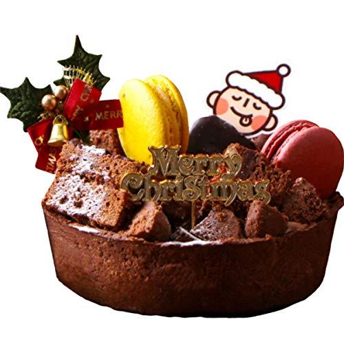 【Morin チョコタルト クリスマスケーキ】 タルト ザッハトルテ チョコタルト マカロン2個 クリスマス ケーキ チョコレートケーキ 誕生日ケーキ【冷凍配送】