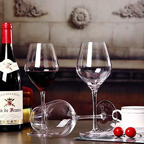 sucastle Kristal Wijnglazen Mond Geblazen Bourgondische Wijnglazen Vaatwasser Safe 21oz Set van 2 Gift Set voor Grote Proeverij Wijn Perfect Bruiloft Verjaardag & Gift Set of 4 Transparant