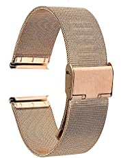 "TRUMiRR 18 mm cinturino per orologio in maglia di acciaio inox per Huawei Watch 1./Onore S1, Asus Zenwatch 2 da donna 1.45"" WI502Q, Withings Activite/Pop/Acciaio HR 36 mm, Fossil Q Tailor, 36 mm Daniel Wellington"
