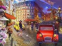 XiuTaiLtd パリの散歩-1000ピースのジグソーパズル、75x50cm、友達へのホリデーギフト