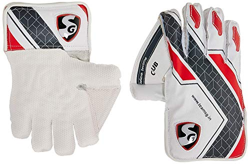 SG Savage Wicket Keeping Gloves | Made from The Finest Genuine Leather and has All-Leather Palm Cuffs and Back