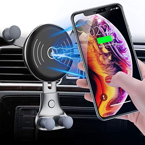 2020 Upgraded Wireless Car Charger, Fast Charging Car Cradles Mount, Air Vent Phone Holder, Compatible with iPhone 11/11 Pro/11 Pro Max/Xs MAX/XS/XR/X/8/8, Galaxy Note10/S10/S20 Series