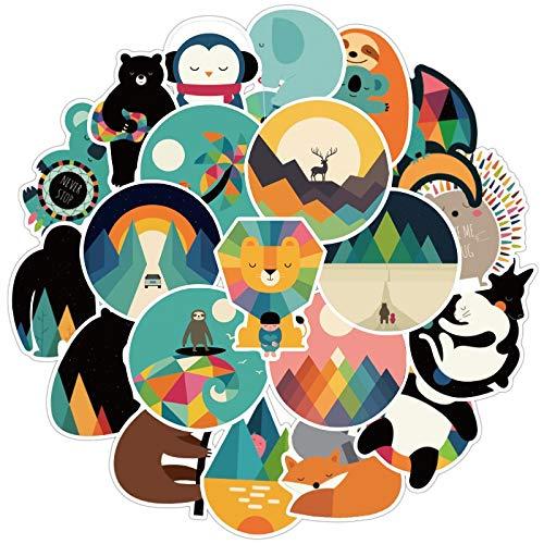 BLOUR 100 Uds Lindo Gato Perro Animal Fresco Dibujos Animados Animal Graffiti...