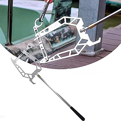 The Boat Hook, Easy Long-distance Threader, Telescoping Boat Hook, Easy Long-Distance Threader Boat Puller Tie Rope Hook Tool Multi-Purpose Dock Hook for Your Home and Outdoor