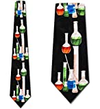 Hommes Cravate Cravate,Cravates Scientifiques Béchers Cravates Cravate Intelligente Cravate Pour Hommes,Neck Tie,145Cm