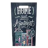 Rebecca Mobili Porta Ombrello Ombrelli Grigio Scuro MDF Canvas Home Sweet Apartment Vintage Retro Gocciolatoio - 40 x 24 x 24 cm (H x L x P) - Art. RE6148