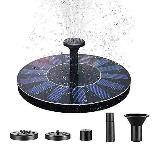 Aufun 1.4W Solar Springbrunnen, rund Teichpumpe Brunnen Solarpumpe Fontäne für Gartenteiche, Fisch-Behälter, Garten Springbrunnen Wasserspiel Dekoration (Type A)