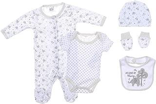 Snugzeez Grey Elephant Baby Gift Set, 00, 5 Count
