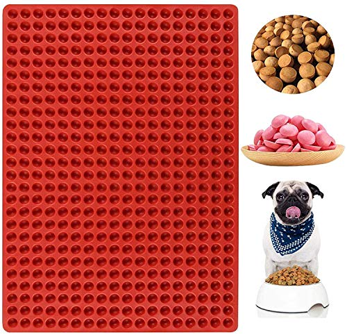 Palksky 468-Cavity Mini Round Silicone Mold/Chocolate Drops Mold/Dog Treats Pan/Semi Sphere Gummy Candy Molds for Ganache Jelly Caramels Cookies Pet Treats Baking Mold