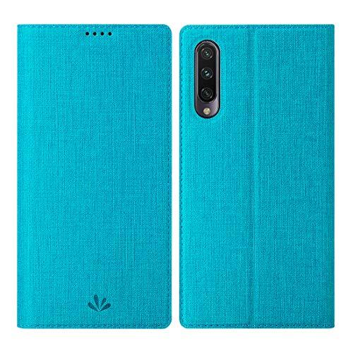Eastcoo Xiaomi Mi A3 Hülle, Flip Folio Wallet Leder Hülle Tasche Schutzhülle Handyhülle mit [Standfunktion][Magnetic Closure] für Xiaomi Mi A3 (Mi A3, Blue)