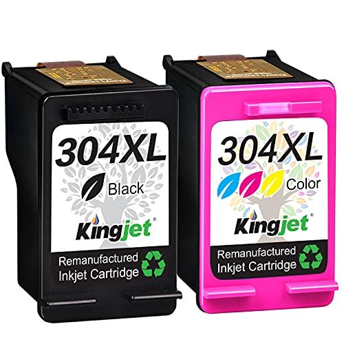 Kingjet wiederaufbereitet 304XL als Ersatz für HP 304 304 XL Druckerpatronen für HP Envy 5030 5020 5032 5010 Deskjet 2622 2630 3750 2620 3760 2632 2633 2634 3720 3730 3733 3735 3762 AMP 130