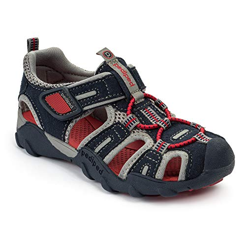 pediped Flex Canyon Water Sandal (Toddler/Little Kid/Big Kid), Navy/Red, 25 EU(8.5 E US Toddler)