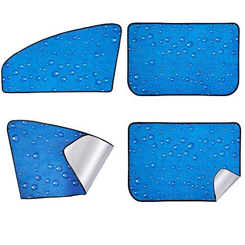 aokway Car Sun Shade, Rear Front Window Shade Side Window Sunshade Baby 4pcs