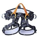 Hainice Arnés de Escalada Ajustable Multipropósito de Nylon Cinturón de Seguridad Protección contra caídas Accesorios de Escalada de Seguridad para Rappel Orange