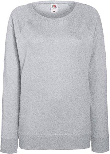 Damen Lightweight Raglan Sweat - In vielen tollen Farben Farbe Graumeliert Größe L