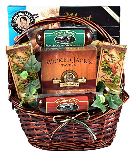 It's A Guy Thing, Gift Basket For Guys with Cheese, Sausage, Crackers and Sweets, 5 Pounds -  Gift Basket Village, ItAGuTh-2015