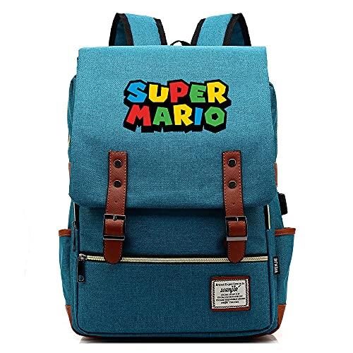 LIJUNQI Super Mario schoolrugzak laptoprugzak heren schoolrugzak voor 17 inch?43 cm?laptop daypack multifunctionele business notebooktassen (8,29 x 13,5 x 43)