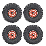 Dilwe RC Wheel Tire, 4pcs RC Accessory Rubber Alloy Compatible for...