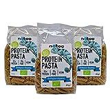 NATOO - Pasta proteica (31 %) Bio – 3 paquetes de 350 g – Low Carb – Vegan