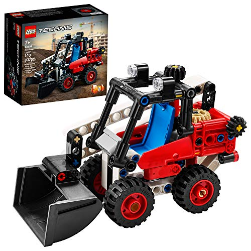 LEGO Technic Skid Steer Loader 42116 Model Building Kit for Kids Who Love Toy Construction Trucks, New 2021 (139 Pieces)