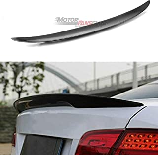 MotorFansClub Rear Truck Spoiler CF Wing Trunk Lip Spoiler Fit for BMW E92 Coupe 328i 335i M3 Real Carbon Fiber