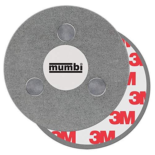 mumbi Magnethalter Feuermelder Magnete magnetpads klebebefestigung 3m metallplatte Magnetbefestigung Rauchmelder Ø70mm