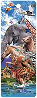 1 X Migration, Animals on the Run, 3-D Bookmark with Tassel
