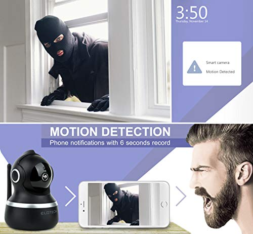 Home Security IP Camera 1080p HD – Best for Baby, Pet, Nanny Monitor – Wireless Wifi Smart Indoor Camera with Night Vision, Two Way Audio, Pan, Tilt, SD Card Slot, Alexa, Motion Traсking and Alerts