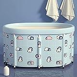Piscina Piscina Doccia portatile, Benna per adulti e Bambini Benne, Spa per la casa Spa Vasca da bagno coperta, Easy installazione, con cuscino d'acqua, 2 misure, vasca da doccia semplice (Dimensioni: