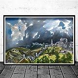 CNHNWJ Welt berühmtr Blick auf Toledo von EL Greco