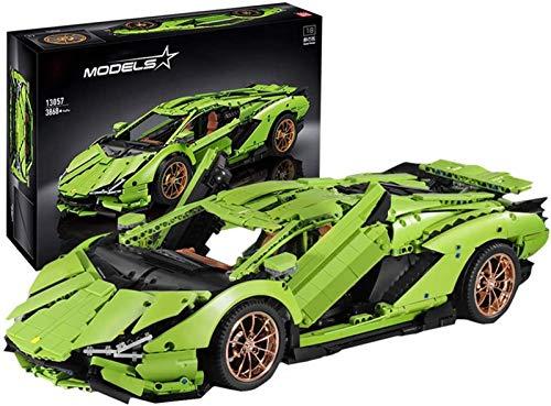 Technik Bausteine Auto für Lamborghini Sportwagen, Technic Bauset, 3860 Klemmbausteine - Kompatibel mit Lego...