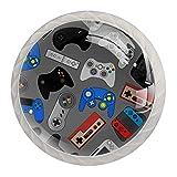 4PCS Pomo de armario,tirador para cajón,Pomos y Tiradores de Muebles,Pomos,pomos,para Puertas,Armarios de Cocina,Cajones - un solo agujero,Gadgets del controlador de videojuegos