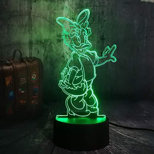 Mehrere Farben Nette Haustier Ente Cartoon 7 Farbwechsel 3D LED Nachtlicht Kinderschlaf Tischlampe Geburtstag Weihnachtsgeschenk Ornamente