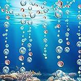 8 Guirnaldas de Burbujas Transparentes Decoración de Fiesta de Sirena Pancarta de Serpentina de Burbujas Colgantes bajo el Mar para Boda Fiesta de Cumpleaños Baby Shower (Colorido)